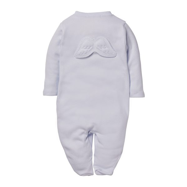 Marie-Chantal Baby Pointelle Angel Wing Blue
