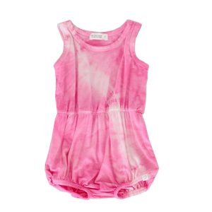 Little Moon Society Summer Romper in Hot Pink Lightning