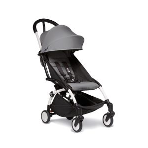 Babyzen Yoyo 2 Stroller in Grey with White Frame