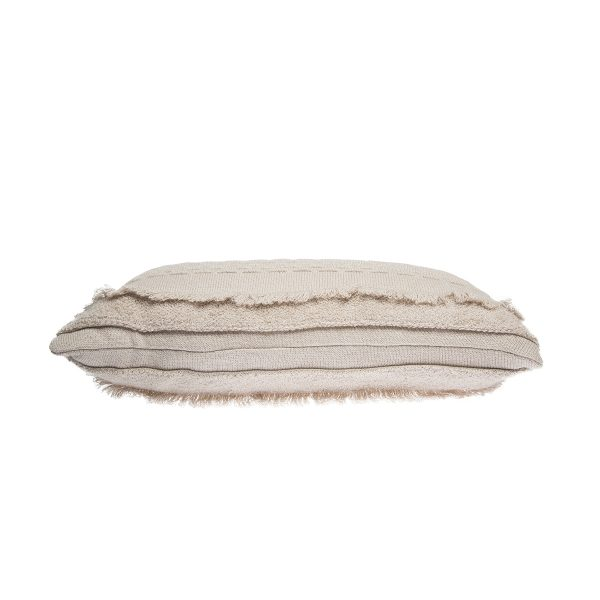 Lorena Canals Knitted Cushion Air Dune White