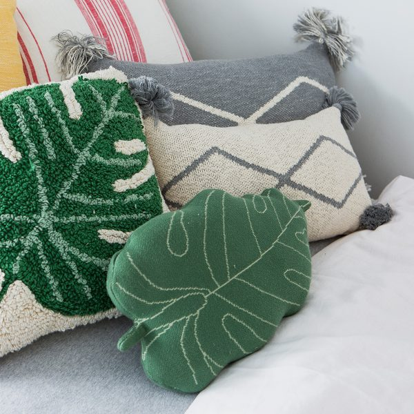 Lorena Canals Knitted Cushion Little Oasis Nat – Grey