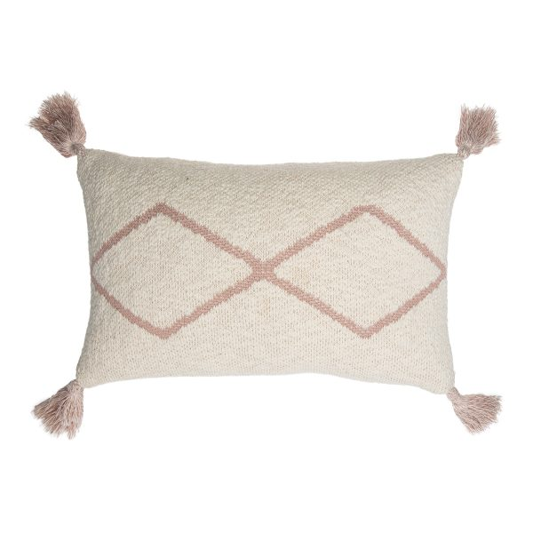Lorena Canals Knitted Cushion Little Oasis Nat – GreyLorena Canals Knitted Cushion Little Oasis Nat – Pale Pink
