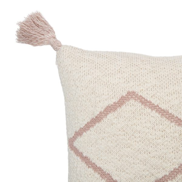 Lorena Canals Knitted Cushion Little Oasis Nat – Pale Pink