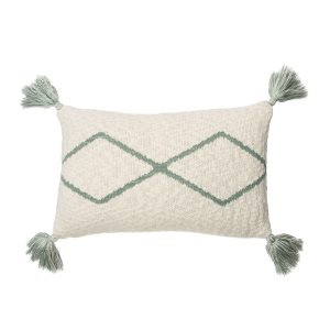Lorena Canals Knitted Cushion Little Oasis Nat - Indus Blue