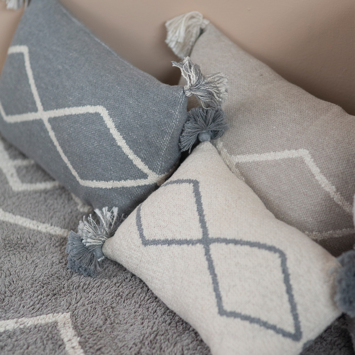 Lorena Canals Knitted Cushion Oasis Soft Linen