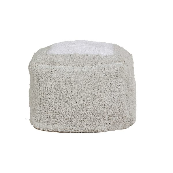 Lorena Canals Pouffe Marshmallow Square Pearl Grey-SquarePearlGrey21