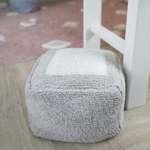 Lorena Canals Pouffe Marshmallow Square Pearl Grey