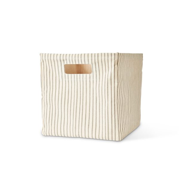 Pehr Printed Cube Storage Bin Grey