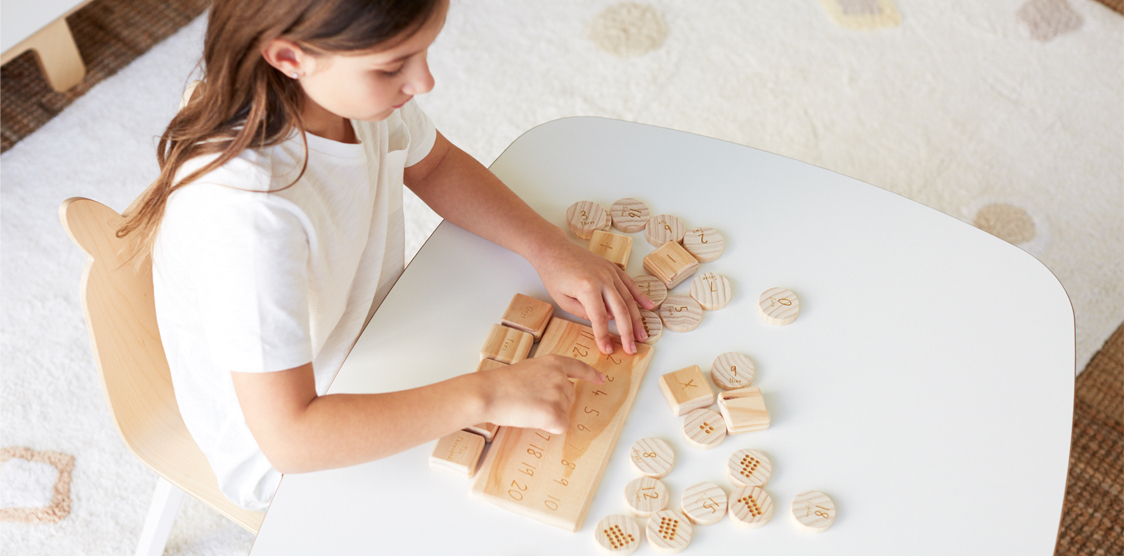child learning maths in homeschool