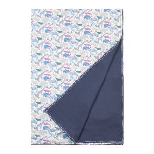 Coco & Wolf Liberty Blanket Queue For The Zoo Blue