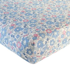 Coco & Wolf Liberty Fitted Sheet Betsy Blue & Rose Quartz
