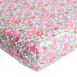 Coco & Wolf Liberty Fitted Sheet Betsy Fuchsia