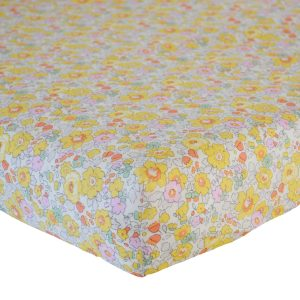 Coco & Wolf Liberty Fitted Sheet Betsy Yellow