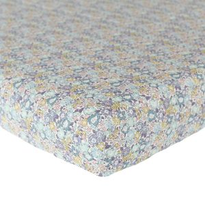 Coco & Wolf Liberty Fitted Sheet Michelle Sea Green