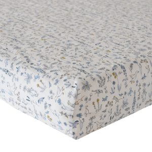 Coco & Wolf Fitted Sheet Theo Blue