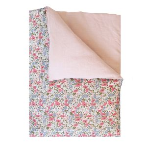 Coco & Wolf Liberty Quilt Poppy, Daisy Rose, & Rose Linen