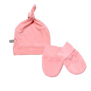 Kyte BABY Scratch Mitten and Cap - Petal Pink
