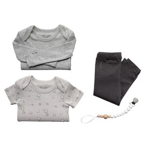 Hart + Land organic cotton four piece baby clothes gift set
