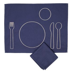 Cutelery Transition Placemat And Napkin Set