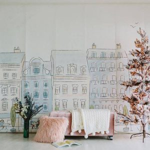 Anewall Parisian Street Mural Wallpaper