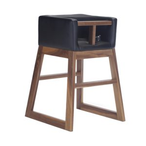 Monte Tavo High Chair - Walnut Black