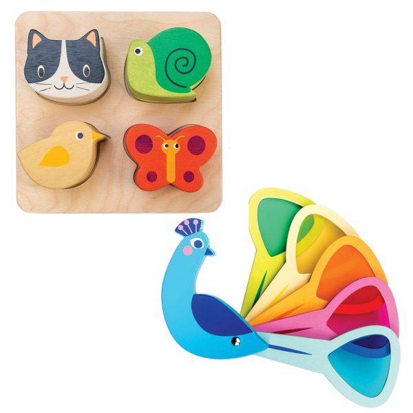 Tender Leaf Toys Sensory Set Peacock