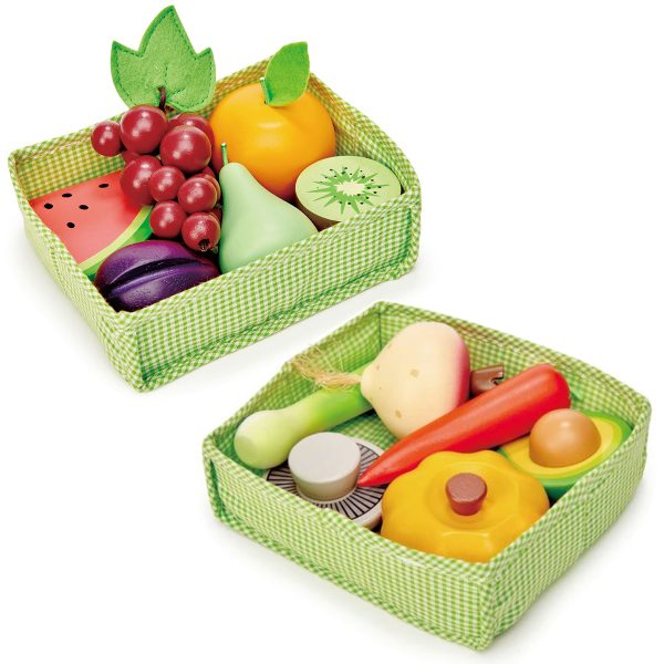 Tender Leaf Toys Fruit and Veggie Crates