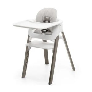 Stokke Steps High Chair Complete Set - Hazel Legs/Grey Cushion