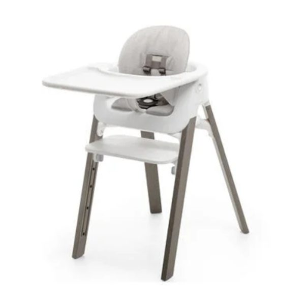 Stokke Steps High Chair Complete Set – Hazel Legs/Grey Cushion