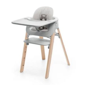 Stokke Steps High Chair Complete Set - Natural Legs/Grey Cushion