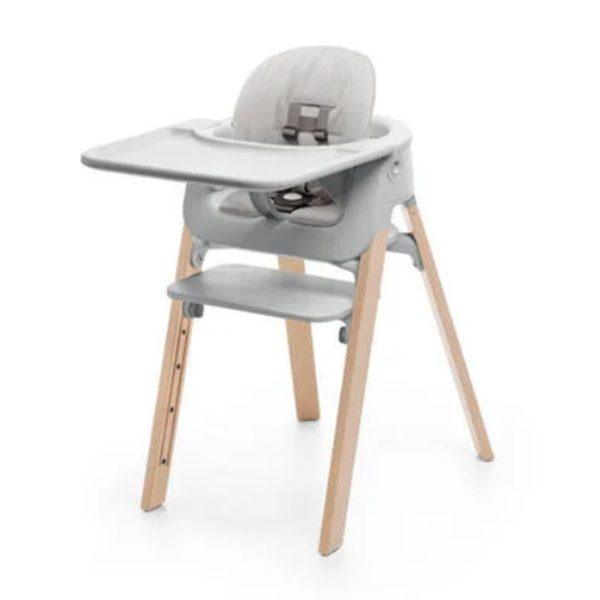 Stokke Steps High Chair Complete Set – Natural Legs/Grey Cushion