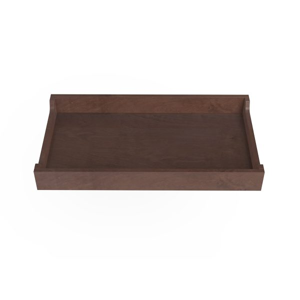 Spot on Square Changing Tray – 34″ Wide – Walnut