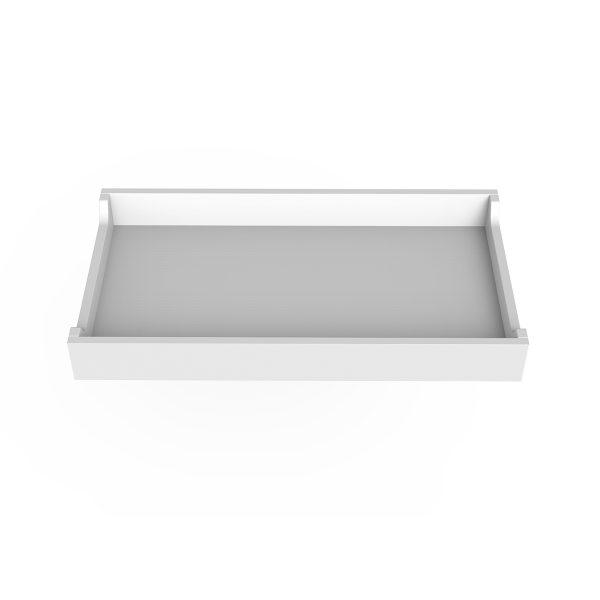 Spot on Square Changing Tray – 34″ Wide – White
