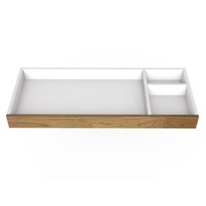 "Spot on Square Changing Tray - 45"" Wide - Walnut"