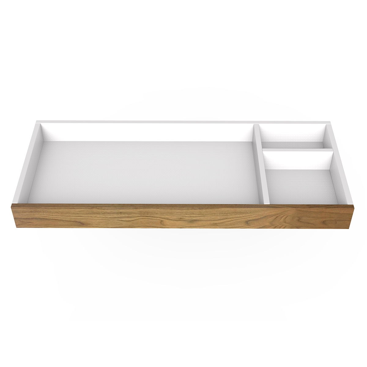 """Spot on Square Changing Tray - 45"""" Wide - Walnut"""