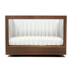 Spot On Square Roh Crib Walnut and White 1 Side Acrylic