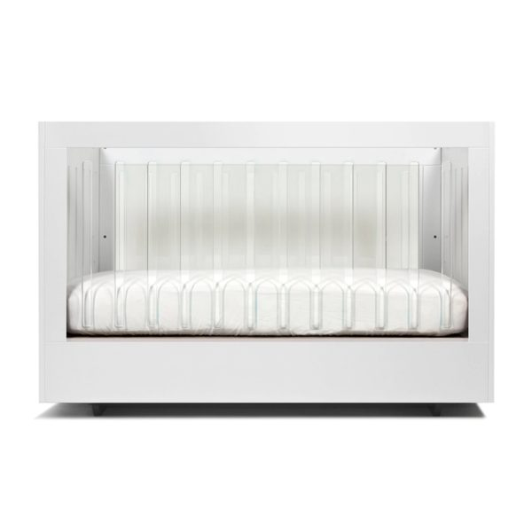 Spot On Square Roh Crib Walnut and White 2 Side Acrylic