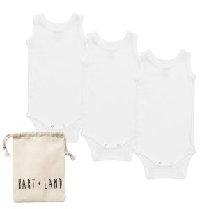 HART + LAND organic cotton baby tanks