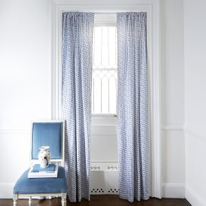 Pepper Home Poppy Blue Curtains - Lifestyle Image