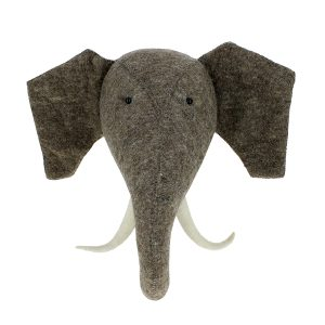Fiona Walker England Elephant Head with Tusks Wall Mount