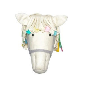 Fiona Walker Cream Flower Horse Head
