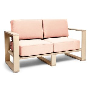 Franklin + Emily Two-Seater Sofa - Champagne