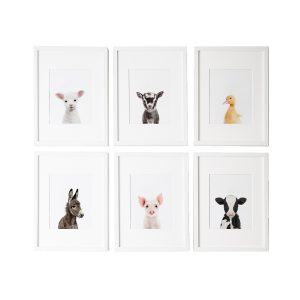 L'amour Fou Print Shop Farm Nursery Prints - Set of 6