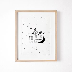 L'amour Fou Print Shop Love You to the Moon Print