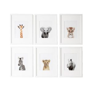 L'amour Fou Print Shop Safari Nursery Prints - Set of 6