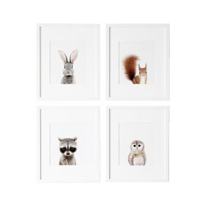 L'amour Fou Print Shop Woodland Nursery Prints - Set of 4