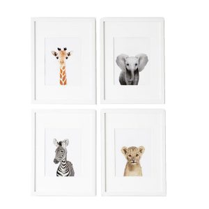 L'amour Fou Print Shop Safari Nursery Prints - Set of 4