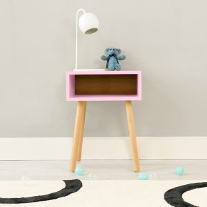 Nico Yeye Minimo Nightstand Maple Pink