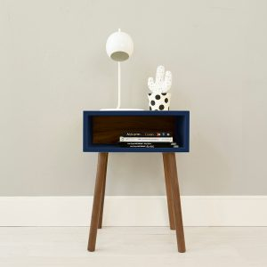 Nico Yeye Minimo Nightstand Walnut Deep Blue