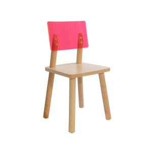 Nico & Yeye Acrylic Back Chair Set of Two - Maple Pink